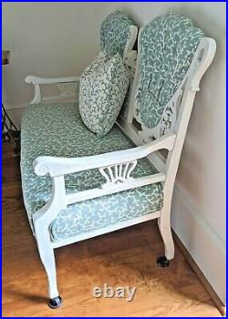 Antique / Vintage Victorian Eastlake Settee / sofa, professionally uphostered