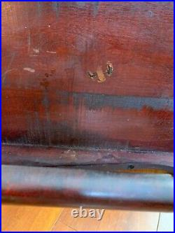 Antique Wood Settee Bench Art Nouveau Craftsman Spindle Victorian Hoffman style