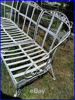 Antique Wrought Iron Woodard Oak Leaf Sectional Sofa 3 PC patio set