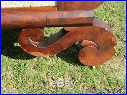 Antique american empire sofa