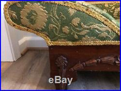 Antique child's or doll's fainting couch chaise lounge
