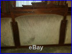 Antique late 1800's Aesthetic movement sofa and chair