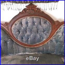Antique late 1800's victorian loveseat