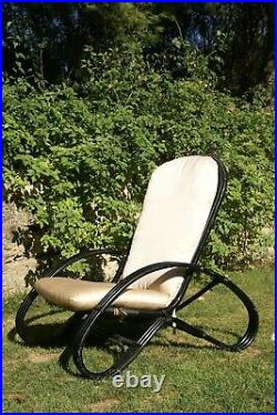 Armchair IN Bamboo Design Adriano balutto Years 70 Manufacture Roberti Rattan