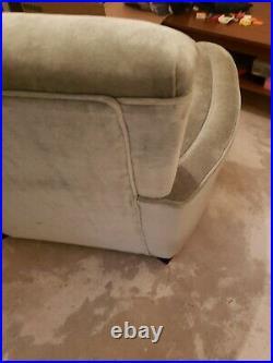 Art Deco 1940s Arm Club Chair with Original Wood Trim Family Heirloom