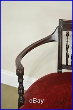 Art Nouveau Fine Quality Mahogany Settee