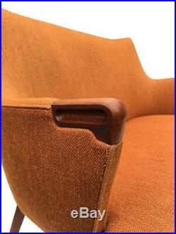 Authentic Hans Wegner Teak AP20 Sofa Lounge Chair Danish Mid Century Modern