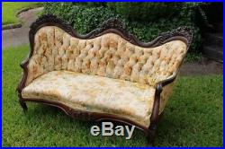 Authentic John Henry BELTER Rosewood Laminated Sofa Settee ROSALIE with GRAPES