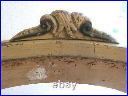 BIEDERMEIER SITZBANK um 1850, Gestell abtapeziert, unrestauriert, Stabil