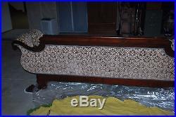 Beautiful Classical Carved Antique Empire Mahogany Sofa