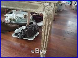 Beautiful pair antique settees, original finish, loveseat, dining bench