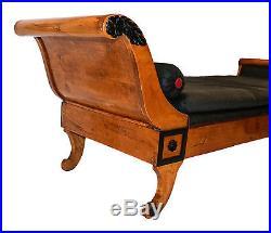 Biedermeier 19th Century Recamier Chaise Lounge Daybed