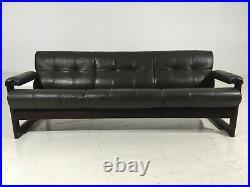 Bohemian P Lafer Rosewood Leather Floating Sling Sofa Mid Century Mod Gillon Era