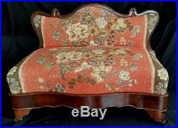Bustle Bench Sofa Fireside Settee Flame Mahogany c1830 American Empire