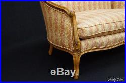 CENTURY Louis XVI Loveseat Settee French Country Hand Carved Scrolled Detail