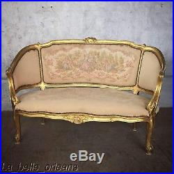 CHARMING FRENCH LOUIS XV PETITE SETTEE / LOVESEAT. GILTWOOD. MUST SEE. L@@k