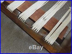 COOL SWANKY MID CENTURY MODERN DANISH 2 pcs SOFA IKAT Fabric Designer