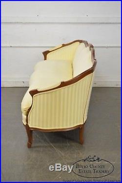 Century French Louis XV Style Long Sofa (B)