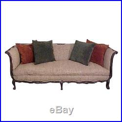 Wondrous Chic French Country Walnut Sofa Tussah Silk Upholstery With Uwap Interior Chair Design Uwaporg