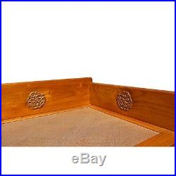 Chinese Solid Wood Golden Dragon Relief Motif Day Bed Couch Set cs4168