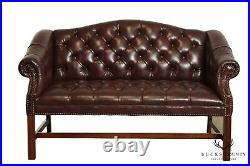 Chippendale Chesterfield Style Tufted Loveseat