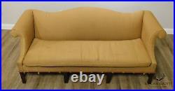 Chippendale Style Vintage Mahogany Camelback Sofa