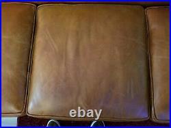 Classic RALPH LAUREN Mid Century Modern Style Real Leather Sofa
