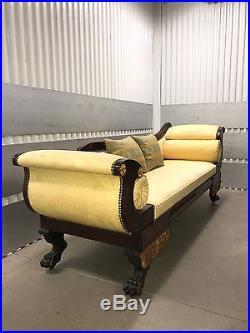 Classical American Grecian Hairy Pawed Recamier New York Sofa