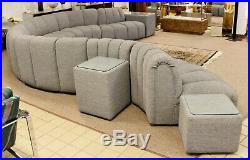 Contemporary Modern De Sede Style 7 Pc Serpentine Sectional Sofa & 3 Side Tables