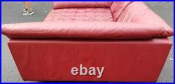 Custom Huge 6 x 8 foot Real Leather Tufted Home Theater Media Room Movie Sofa