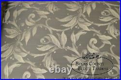 Custom Upholstered Vine & Berry Sofa with Fringe