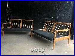 Danish Lounge Sectional SOFA Couch Mid Century Modern Baumritter Chair MCM