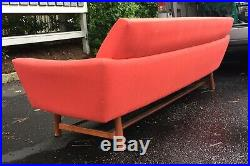 Danish Mid Century Stretcher Base Sofa