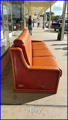 Divine Vintage High End Formitalia Paolo Gucci Leather Sleeper Sofa