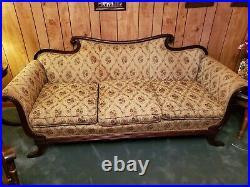 Duncan Phyfe Sofa Beige Vintage