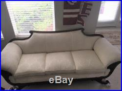 Duncan Phyfe style, early 20th Century Ivory Formal Living Room Sofa