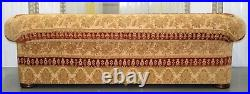 Duresta Turkish Rug Upholstery Sofa Feather Filled On Ruched Arms & Bun Feet
