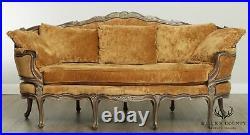 E. J. Victor Large French Louis XV Style 8 Leg Sofa
