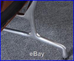 Eames Soft Pad Leather Teak Polished Aluminum Sofa #2 for Herman Miller, 1984