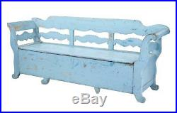 Early 19th Century Large Painted Swedish Bench Day Bed