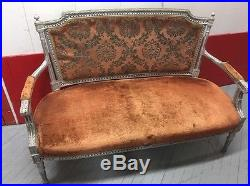 Egyptian Style Couch Red Orange