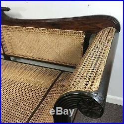 Elegant 19th Century Antique Anglo Indian Rosewood Sofa
