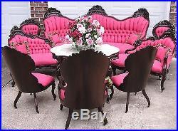 Elegant Victorian J H Belter Henry Clay Rosewood Parlor