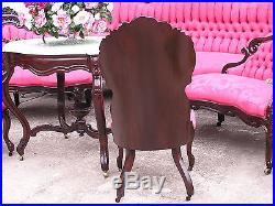 Elegant Victorian J H Belter Henry Clay Rosewood Parlor Set