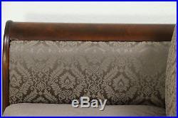 Empire 1840 Antique Flame Mahogany Sofa, New Upholstery #28830