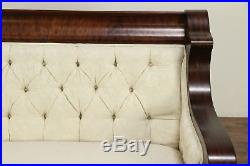 Empire Antique Parlor or Library Set Settee or Loveseat & Chair, Karpen #30183