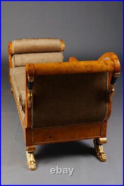 Empire Schwanen Chaiselonge Chaise Longue im Antiken Stil