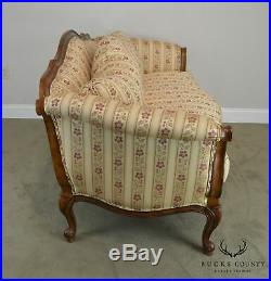 Ethan Allen French Louis XV Style Carved Sofa