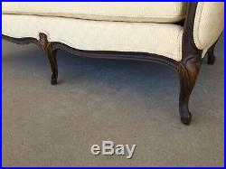 Ethan Allen Louie XV Style French Provincial Antique White Love Seat (57)