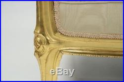 Exceptional French Art Nouveau Period Giltwood Antique Canapé Sofa Settee
